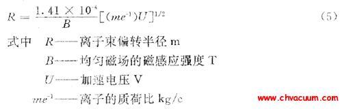 离子偏转半径计算公式
