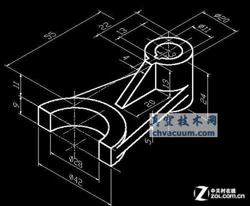 根据三维CAD图建模二维进行的尺寸cad怎么v尺寸方法图片