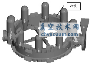 核级蝶阀阀体铸造工艺数值模拟图片