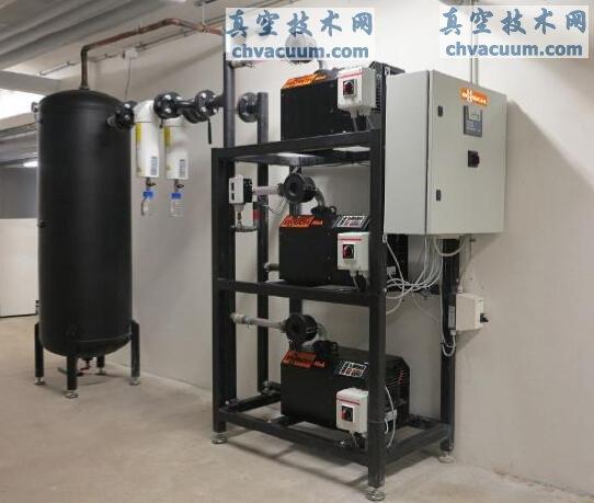新建诊所内运行的干式中央真空系统