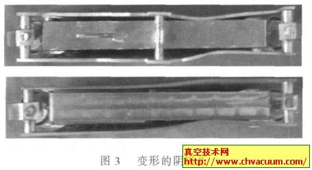 变形后的钛泵阴极板