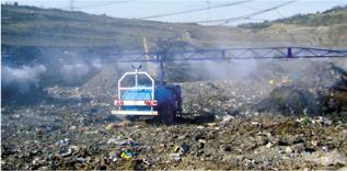 移动喷射系统消除垃圾填埋场气味