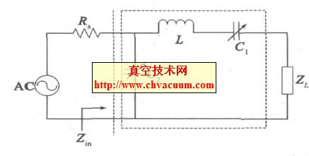 射频电源L 型阻抗匹配系统图