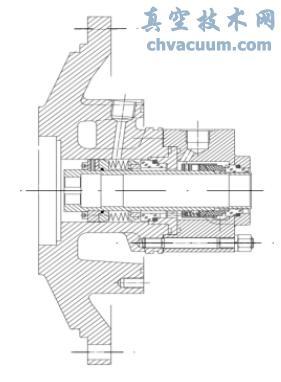 波纹管机封与弹簧机封的串联结构示意