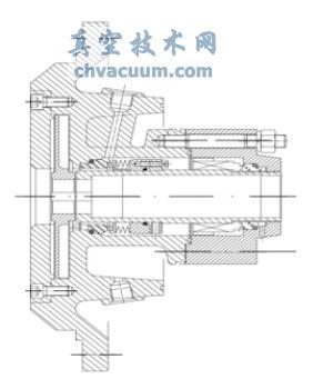 副叶轮双端面机械密封结构示意图