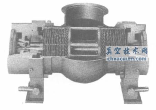 卧式涡轮分子泵结构泵意图