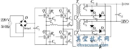 阳极高压主电路原理图