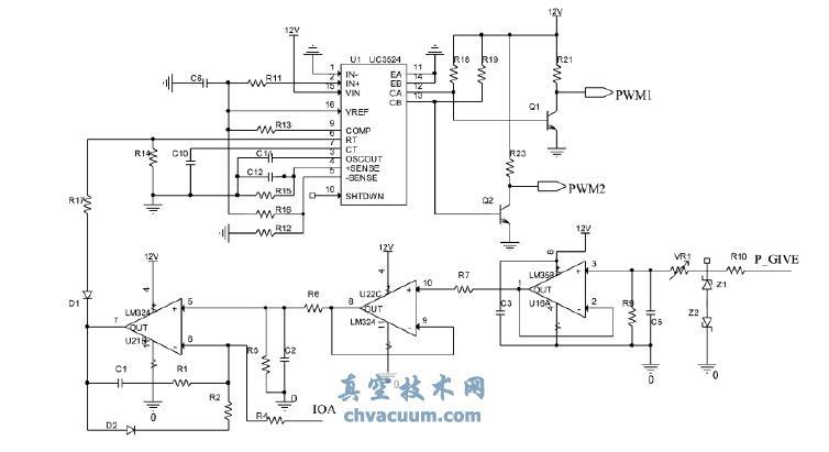 高压电流检测及功率调节电路