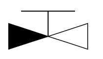 止回阀 截止 图形符号/图3 截止止回阀图形符号的一般表示方法