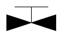 常关截止止回阀的一种表示符号