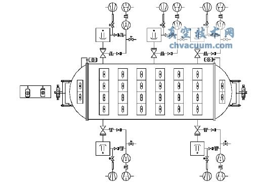 大型真空铝钎焊炉机械系统图