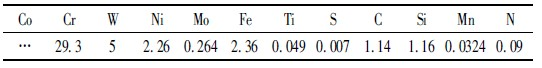 stellite6# XRF 检测结果Wt%