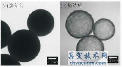 二氧化硅微球透射电镜图像