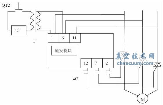 智能型交流电动机节电启动器控制柜进行改制后的部分参考电路如图6
