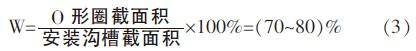 安装沟槽填满率的计算方法
