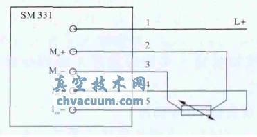 图3 温度传感器接线图-基于PLC的磁控溅射温度控制系统设计图片