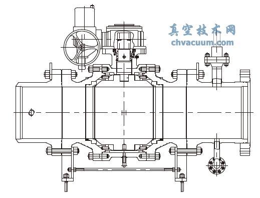 水轮机用复合密封结构球阀图片