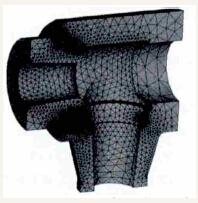 阀壳和阀座的网格划分结果