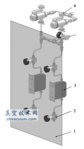 脉冲激光分子束外延系统的气路图