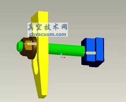 T型块;螺杆;压板;和螺帽;的组合